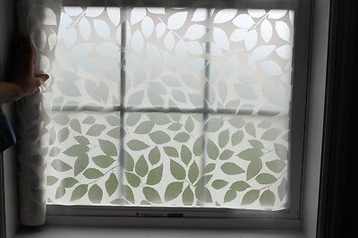2ft-Privacy-Window-Film-white-leves-Decorative-Frosted-Glass-Stickers-Window