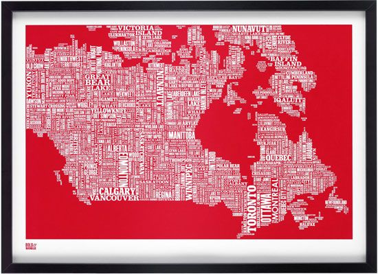 Canada Map. Awesome!