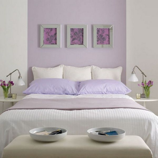 Dormitorio ideal para descansar, colores con aroma a Lavanda <3