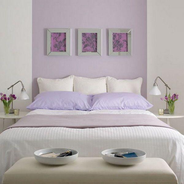 Dormitorio ideal para descansar, colores con aroma a Lavanda <3