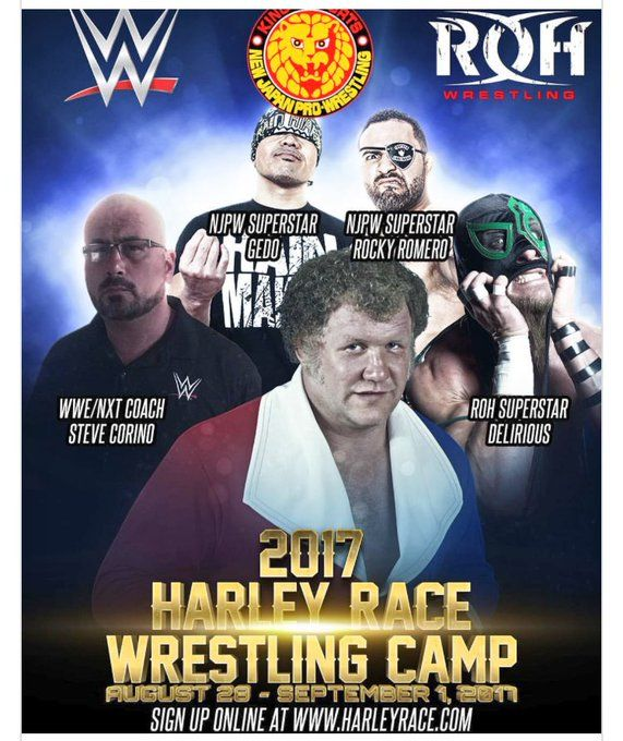 "Rocky Romero on Twitter: ""I'll be attending the 2017 Harley Race Camp this year. Should be a great opportunity for young wrestlers to network and learn. https://t.co/gs8tIXyoj1"""