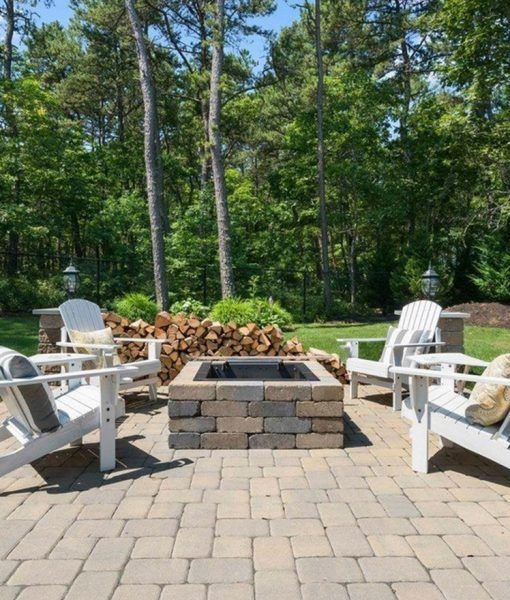 Best 25 stone fire pits ideas on pinterest backyard for Cape cod stone and gravel