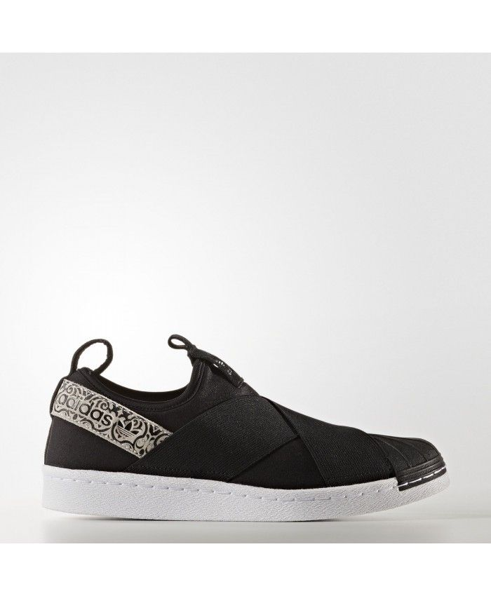 Adidas Superstar Slip-on Shoes Core Black Footwear White BY9142