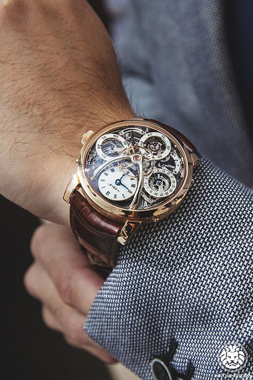 The skeleton watch that reveals all the exquisite inner workings of a luxury timepiece. #Mens #TheJewelleryEditorLoves