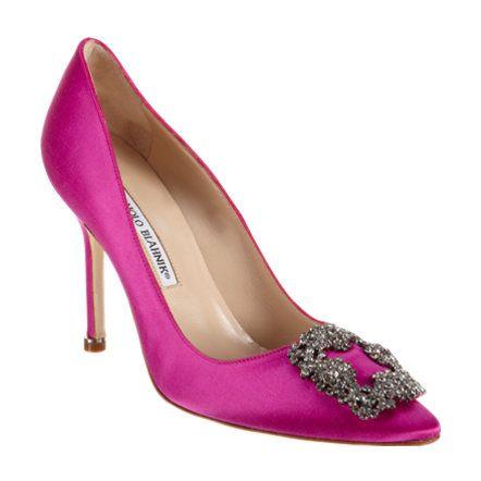 : Shoes, Satin Pumps, Manolo Blahnik, Manoloblahnik, Hangisi Pumps, Carrie Bradshaw, Hangisi Satin, Pink, Which Blahnik