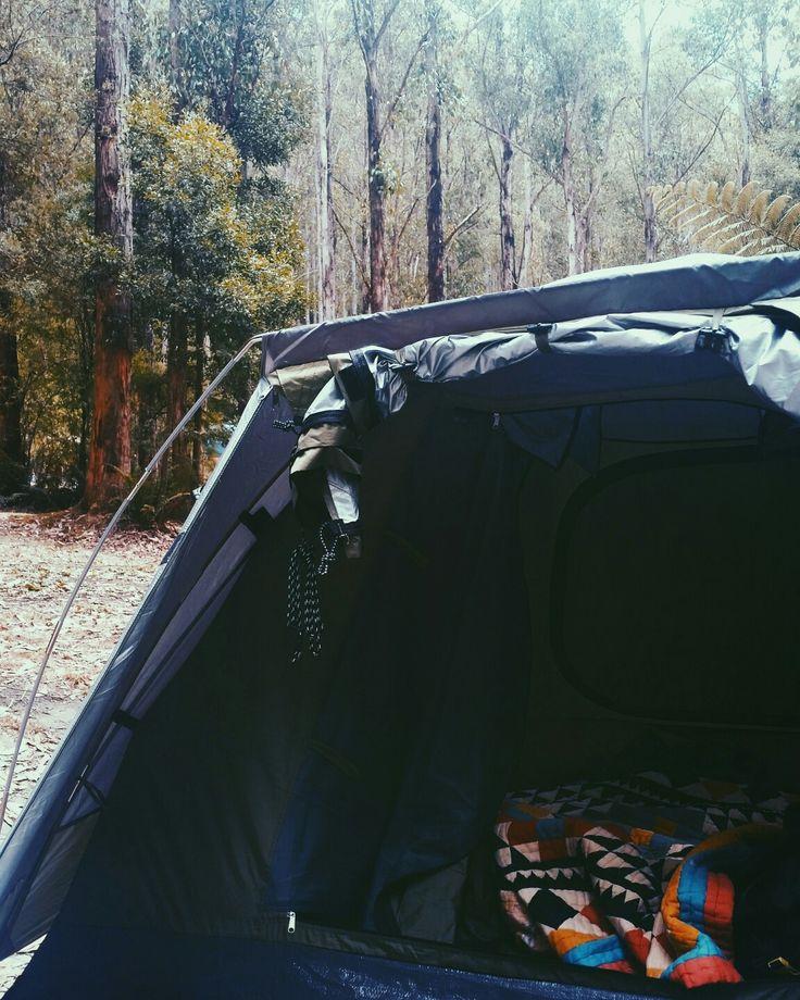 Camping at parker hill- otways national park