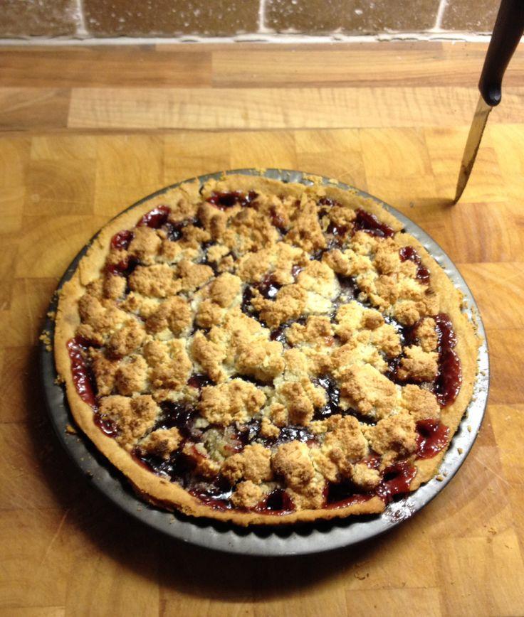 Raspberry Frangipani Tart. Delicious! #raspberrytart #frangipani