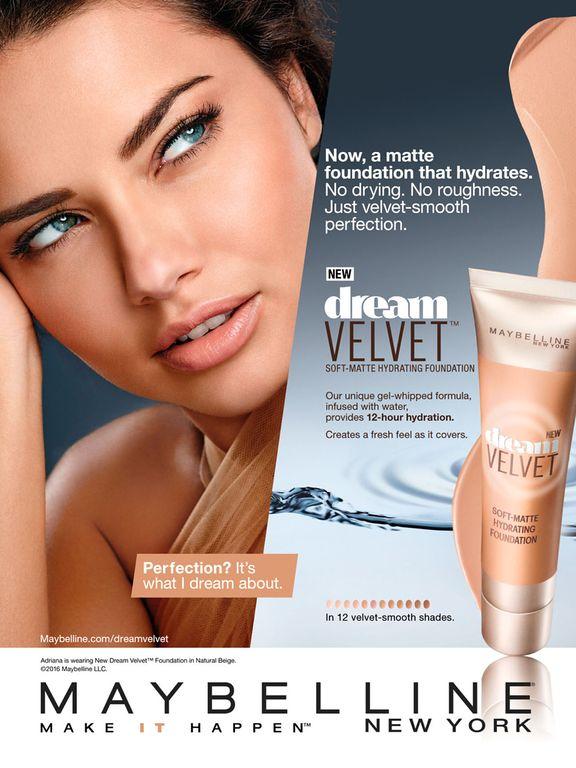 Maybelline Cosmetic Advertising Dream Velvet