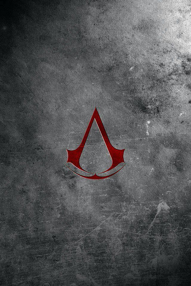 FREEIOS7 | assassins-creed-logo-brick - parallax HD iPhone iPad wallpaper