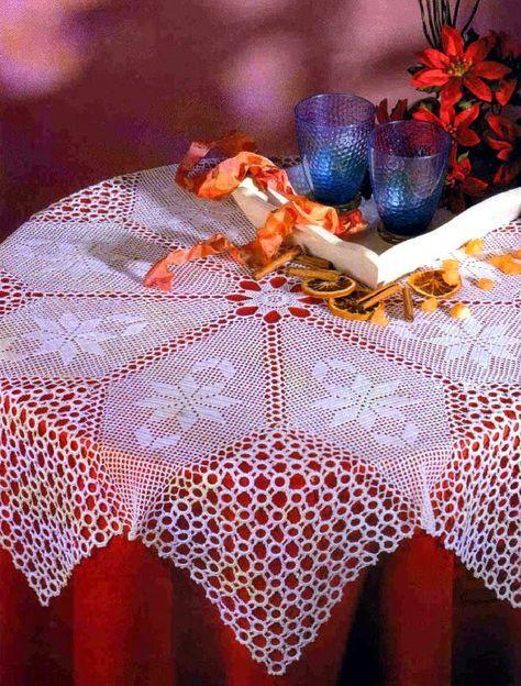 tejidos artesanales en crochet: mantel octeto de fantasia