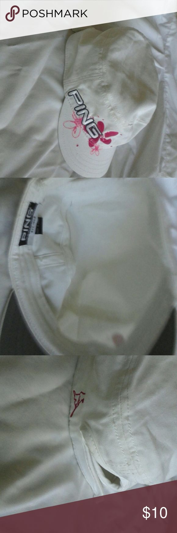Ping Ladies Cap  $10 +free gift Ping Ladies Cap $10 one-size-fits-all pre-owned condition excellent no stains no flaws+free gift any other item in this closet priced$10 or less. ping Accessories Hats