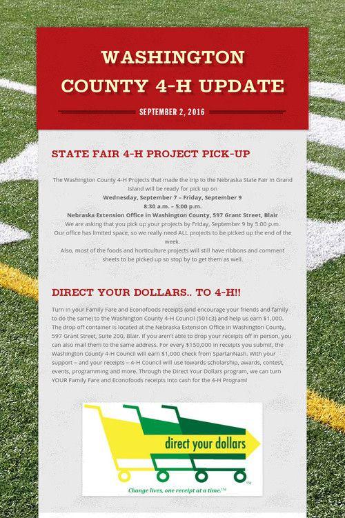 9/2/16 Washington County 4-H Update