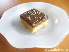 Lys sjokoladekake i langpanne | Det søte liv