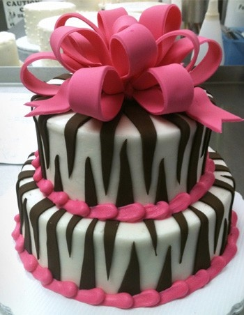 Zebra Cake...haha... maybe for my bachelorette but not the wedding