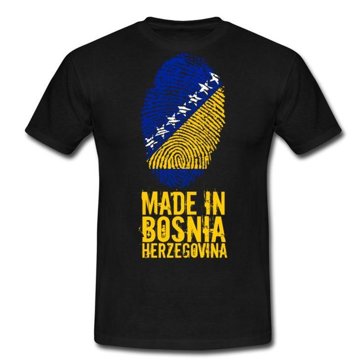 Dieses schöne Motiv zeigt einen Fingerabdruck mit der Bosnien und Herzegowina Flagge, dadrunter steht geschrieben: MADE IN BOSNIA AND HERZEGOVINA. Für jeden stolzen Bosniaken ein MUSS!