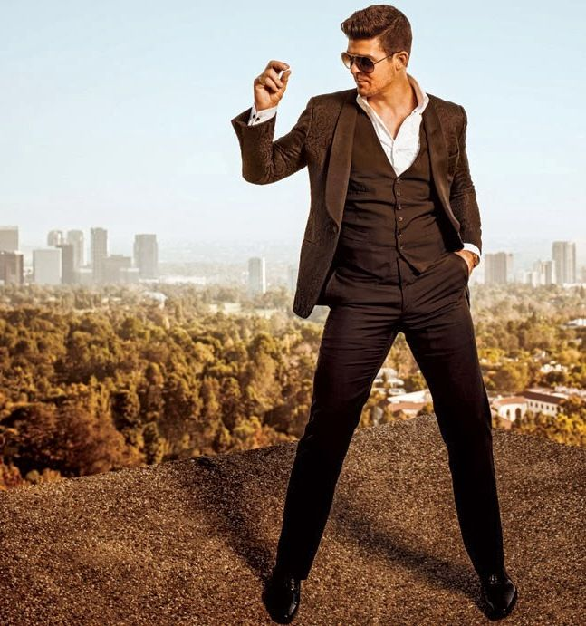 Robin Thicke for L.A. Confidential, January 2014
