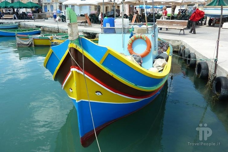 """Luzzu"" - Tipical fishing boat of Malta"