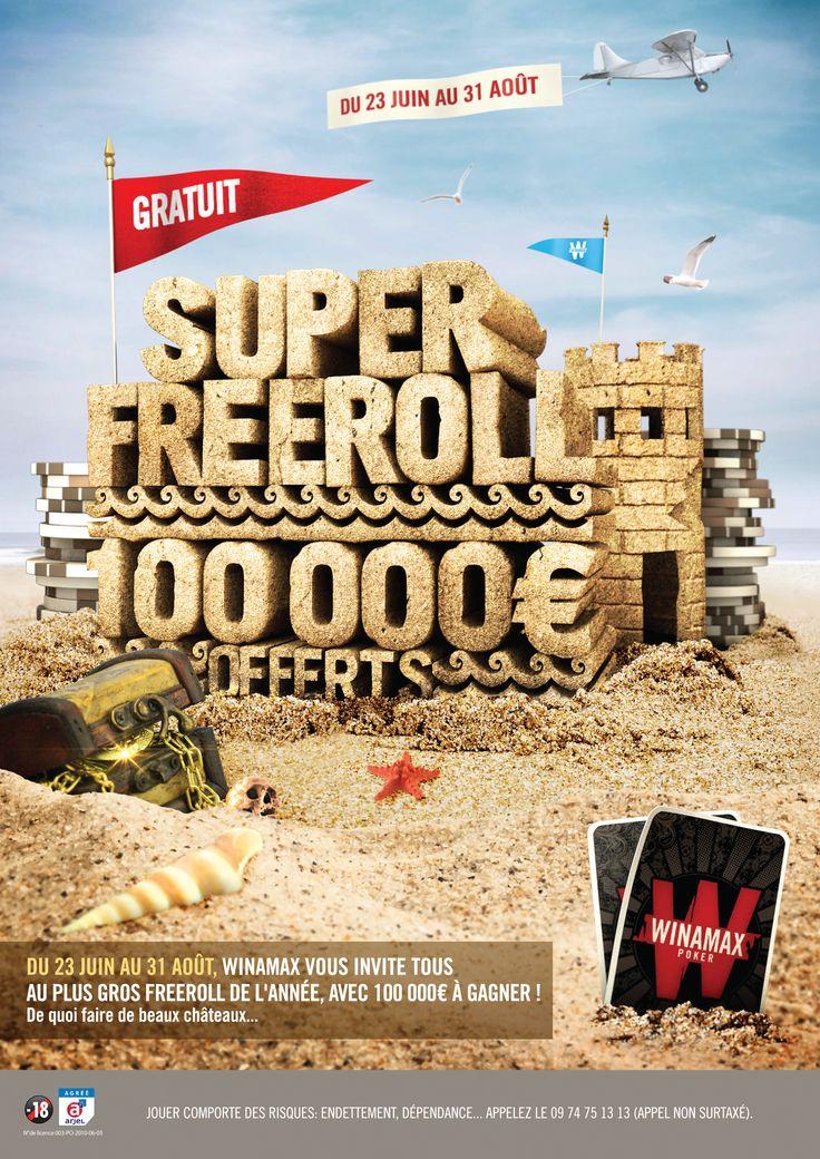 Du 23 juin au 31 août 2014, Winamax vous offre un tournoi gratuit exceptionnel, avec 100 000 € de prix. #Winamax #Poker #Superfreeroll #summer