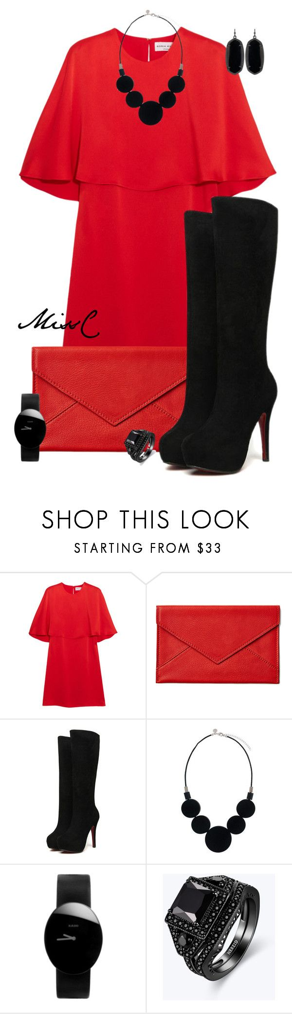 """""""Set #9443"""" by charna-duncan ❤ liked on Polyvore featuring Sonia Rykiel, Graphic Image, Rado and Kendra Scott"""