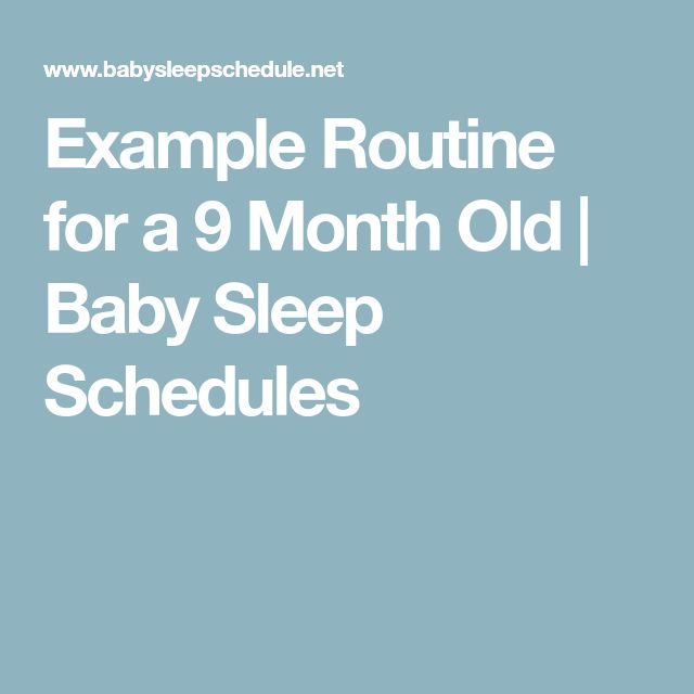 Example Routine for a 9 Month Old | Baby Sleep Schedules