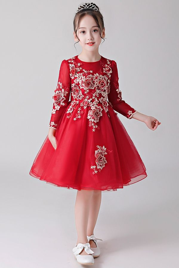 2e3b17187a6f2 A-Line/Princess 3/4 Sleeves Scoop Neck Flower Girl Dress with ...