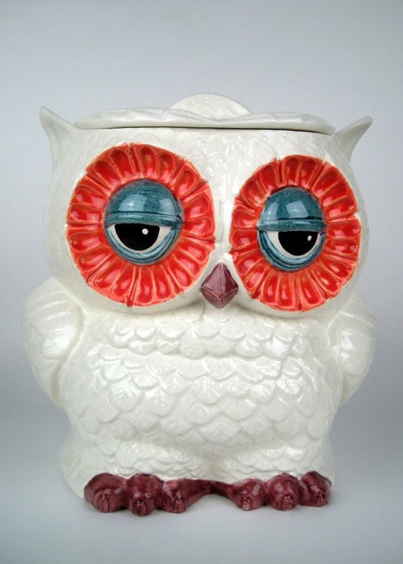 Vintage Ceramic Owl Cookie Jar Large By Modclay On Etsy Products I Love Pinterest