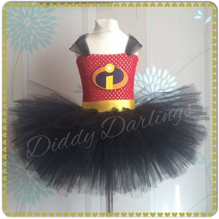 These Are the 65 Ultimate Disney Character Tutu Dresses For Halloween Incredibles Tutu Dress Incredibles Tutu Dress ($40)