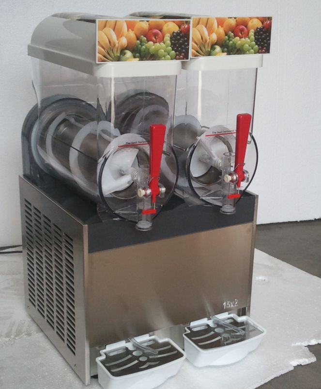 two cylinders commercial frozen drink ice slush machine