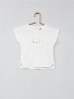 935a163e3 Niña 0-36 meses - Camiseta  león  de algodón orgánico - Kiabi