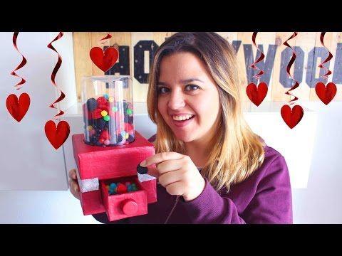 Máquina de chuches DE CARTÓN!! FUNCIONA!! Regalo para san valentín - Mery - YouTube