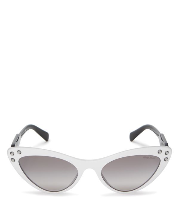 877798e2d403 Miu Miu Embellished Mirrored Gradient Cat Eye Sunglasses, 55mm ...