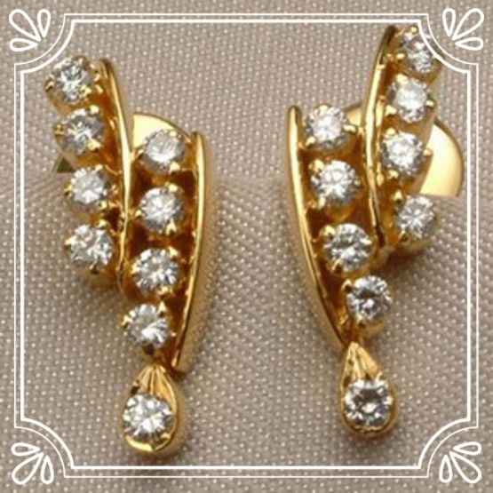 Real Certified Diamond 0.40 ct Solid 18k Gold Earrings #earrings #earring #diamondearrins #goldearrings #18kgoldearring #hallmarkedearrings