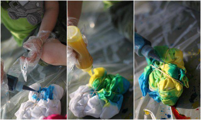 DIY Ty-dye T-shirts