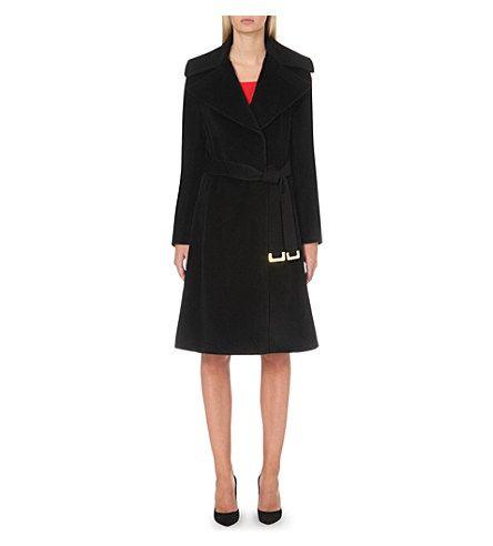 DIANE VON FURSTENBERG Garbo wool-blend coat (Black