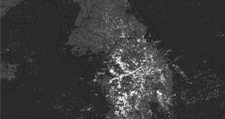 2014상반기 낙뢰지점 시각화