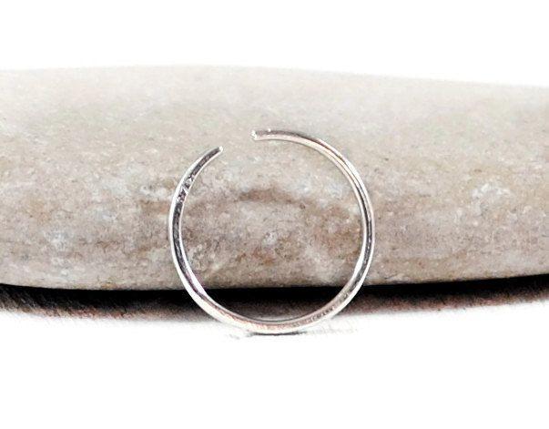 Endless Hoop Earring. You Choose Diameter 5-7mm. Sterling Silver Hoops. Minimal Open Hoop Piercing 22-16g.  Minimalist Jewelry By GSminimal