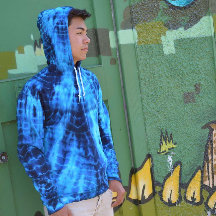 Poseidon Blue Hippy Boy Hoodie - Ocean Coachella Festival Tie Dye Pullover by Wildflowerdyes on Etsy https://www.etsy.com/listing/129688413/poseidon-blue-hippy-boy-hoodie-ocean