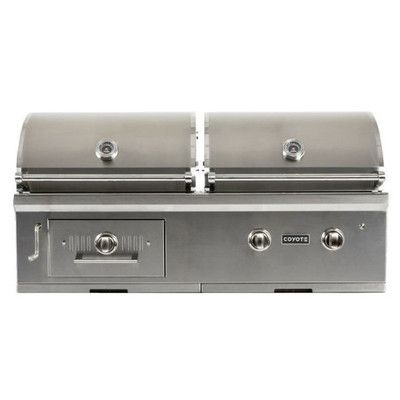 """Coyote Grills 50"""" Built-In Convertible Gas and Charcoal Grill Gas Type: Natural Gas"""