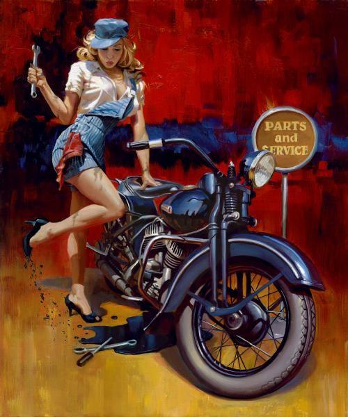 26 best pin up moto images on pinterest biker girl for Biker chick tattoos