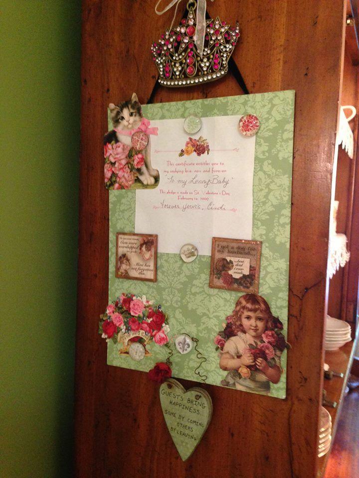 ~LennysRedRose~  Kitchen bulletin board