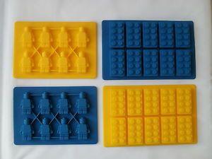 Lego Forma Stile Cubetto Di Ghiaccio Vassoio Stampo Build Divertente Ice Mattoni | eBay
