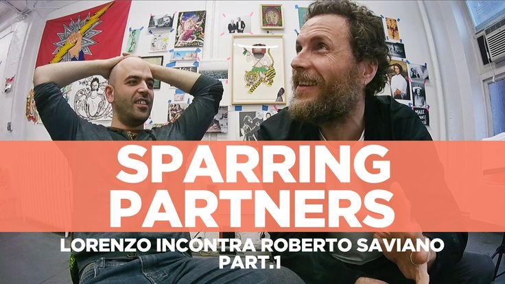 """#RobertoSaviano e #LorenzoJovanotti - #SparringPartners 1° Parte """" 'Sparring partners' è il nome che abbiamo dato alla nostra chiacchierata, nata per caso e ripresa da una telecamerina. Come un allenamento tra pugili""""."""