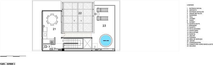 Planta Cobertura - Residência M&M / Bonina Arquitetura
