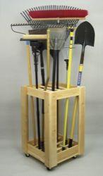 Garden or garage tool storage.