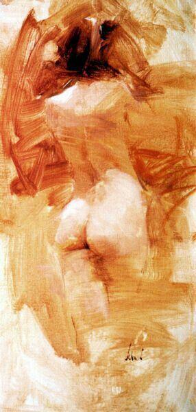 Richard Schmid Monochrome oil painting www.RichardSchmid.com More At THE NUDE : FOSTERGINGER @ Pinterest