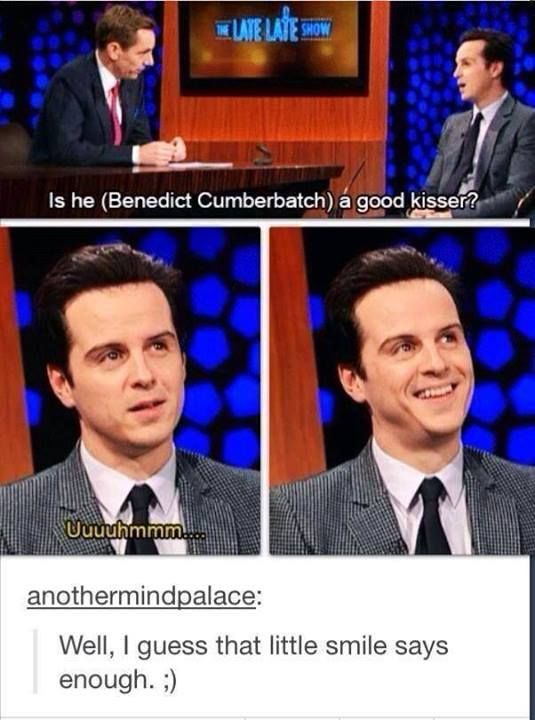 What was it like kissing Benedict Cumberbatch?