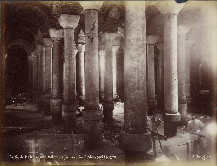 Eski İstanbul Fotoğrafları Arşivi — Binbirdirek Sarnıcı / Guillaume Berggren Fotoğrafı...