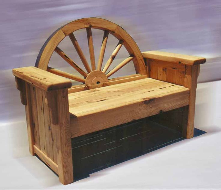 Western Bench - Wagon Wheel Bench - CBB630