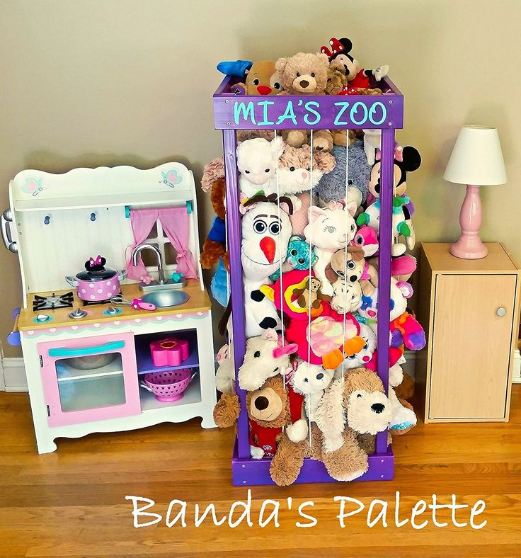 2', 32', 3', 4' Personalized Stuffed Animal Zoo, Wood Animal Holder, Storage, Stuffed Animal Organizer, Kids Gifts, Ball Storage, Birthday Gift ** Startling review available here  : Handmade Gifts