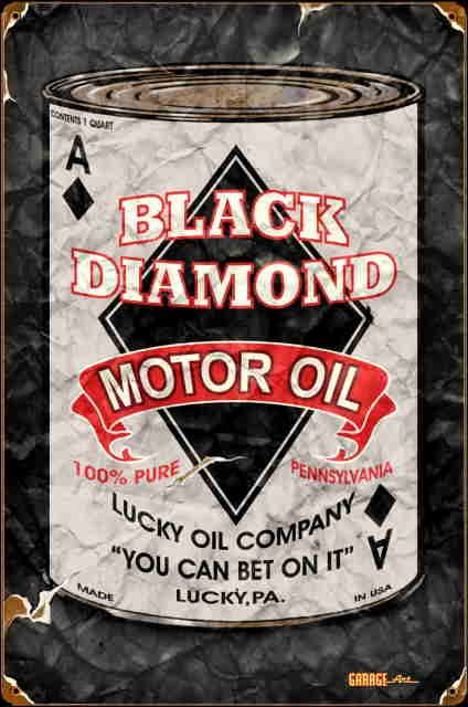 Diamond motor oil vintage sign gas signs gas amp oil asst amp ca